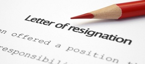 gb Letter of resignation
